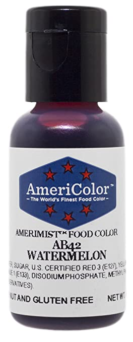 Amazon.com : AmeriColor Airbrush Watermelon Airbrush Food Color ...