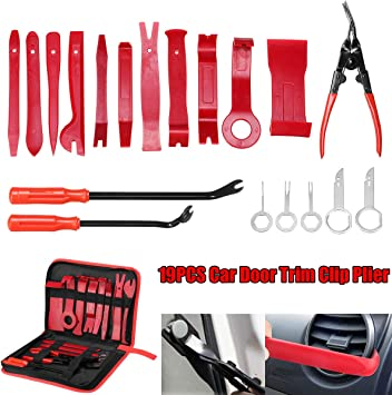 Tuparka 8 Pieces Auto Trim Removal Tool Kit Car Trim Removal Tool for Car Dash Radio Door Panel Audio Install and Remove