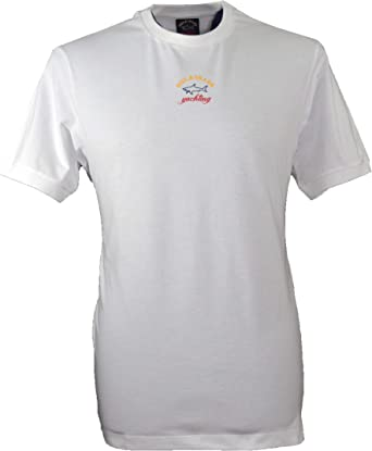 PAUL & SHARK E20P1034 - Camiseta de Cuello Redondo, Color Blanco: Amazon.es: Ropa y accesorios