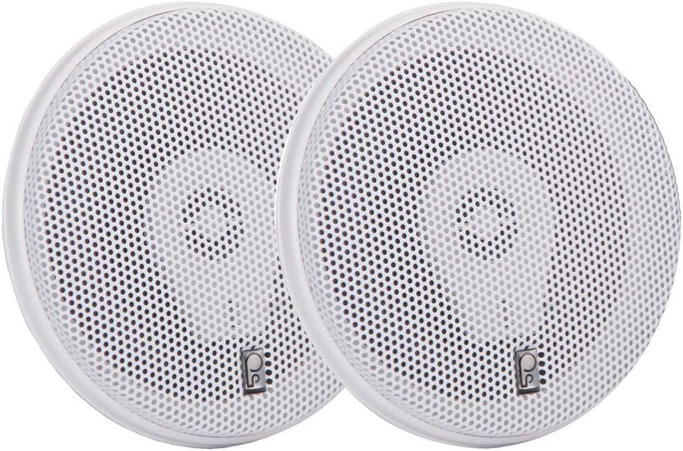 """PolyPlanar MA8505W 5"""" Three-Way Titanium Series Speakers - White"""