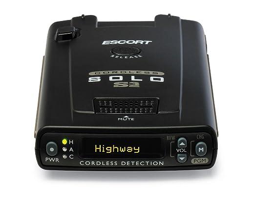 Wireless Radar Detector >> Amazon Com Escort Solo S3 Cordless Radar Detector Cell Phones