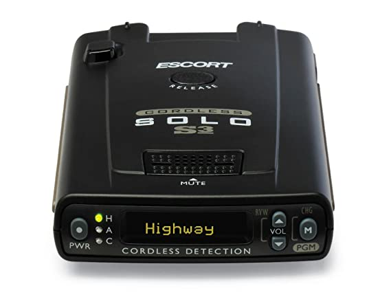 Wireless Radar Detector >> Escort Solo S3 Cordless Radar Detector