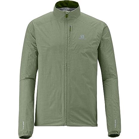 Salomon Chaqueta Trail Hombre – Park WP Jacket M Verde 14, Nile Green