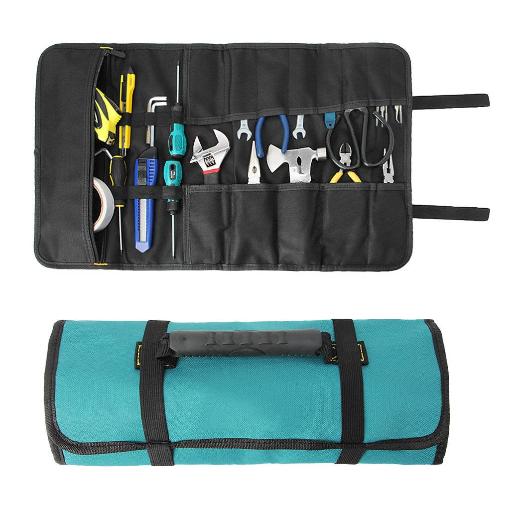 Techinal Reel Rolling Storage Tools Bag Pouch Multi-Purpose Oxford Waterproof Tool Holder Work Organizer Bag With Handles