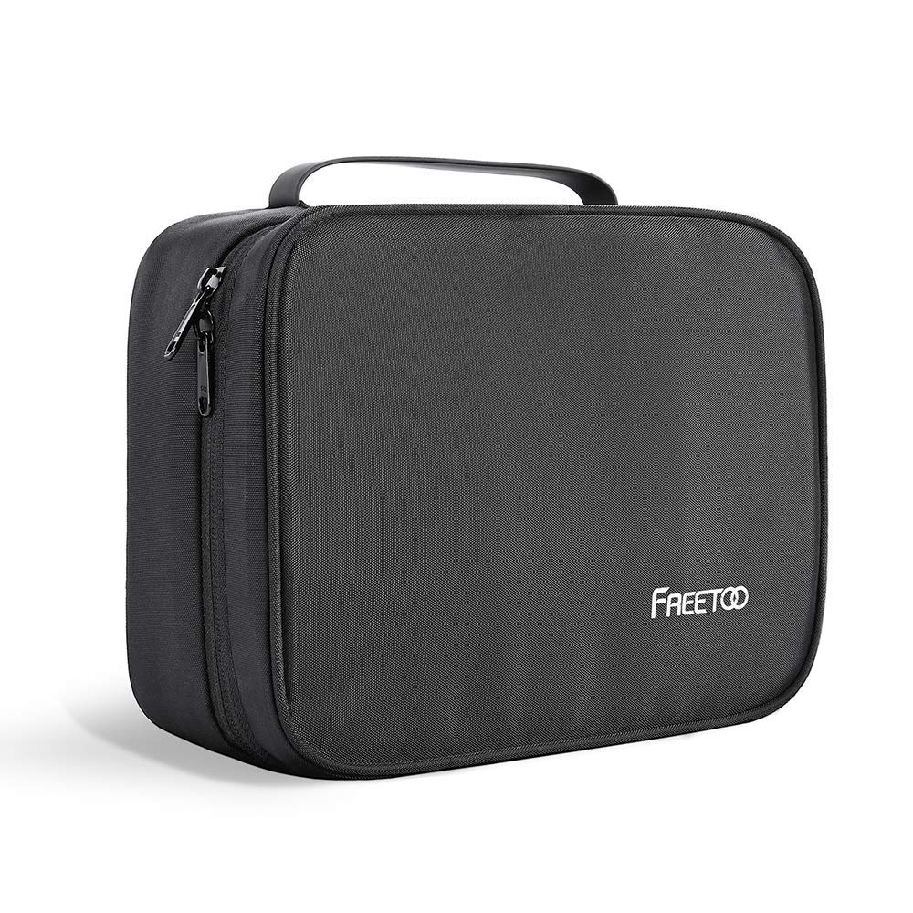 FREETOO Hanging Travel Toiletry Bag 6 Compartments Waterproof Portable Wash Travel Toilerty Bag for Men and Women