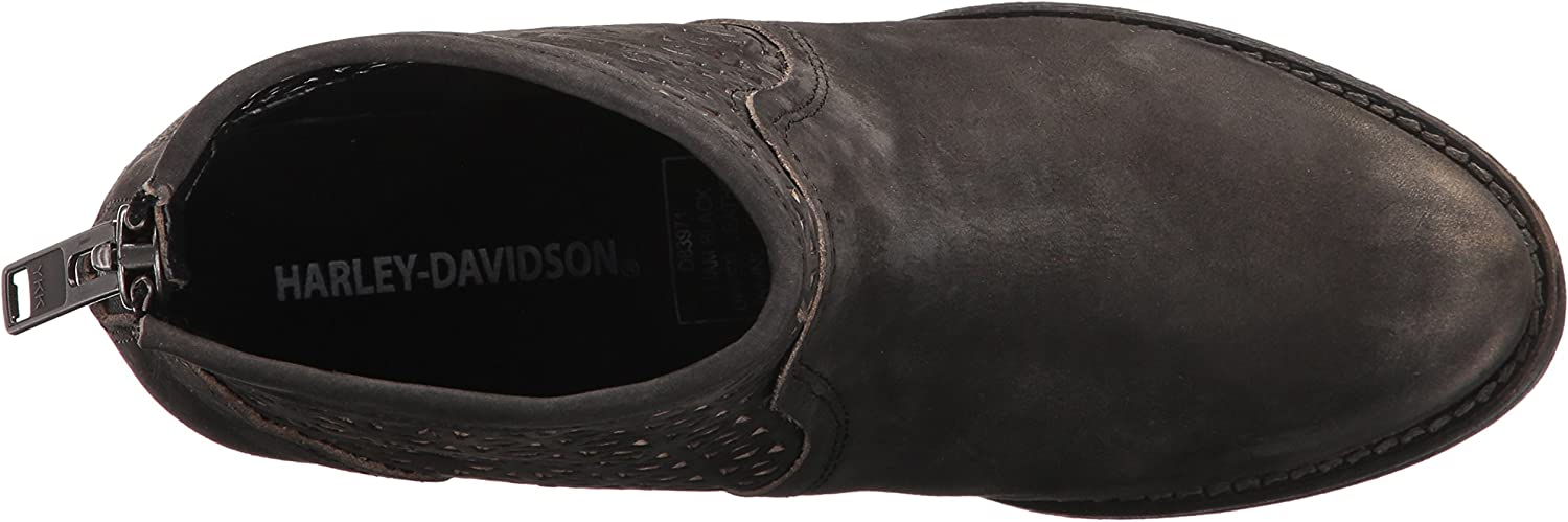 Harley-Davidson Womens Liam 4.25-inch Black Lifestyle Motorcycle Boots D83971