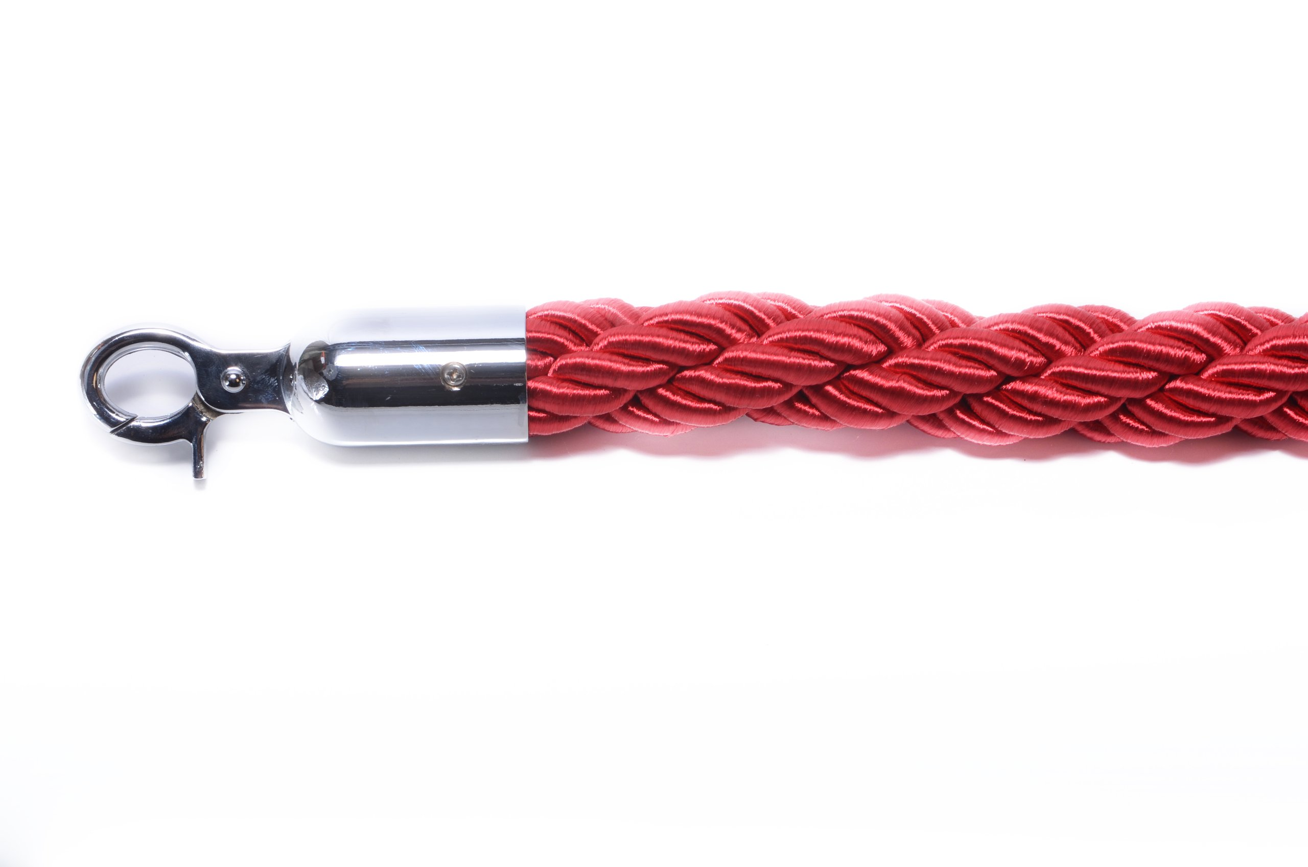 VIP Crowd Control 1771 72 in. Braided Rope with Mirror Hook - Red