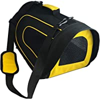 Pet Magasin Soft-Sided Pet Travel Carrier Cage for Small Pets, Black Yellow