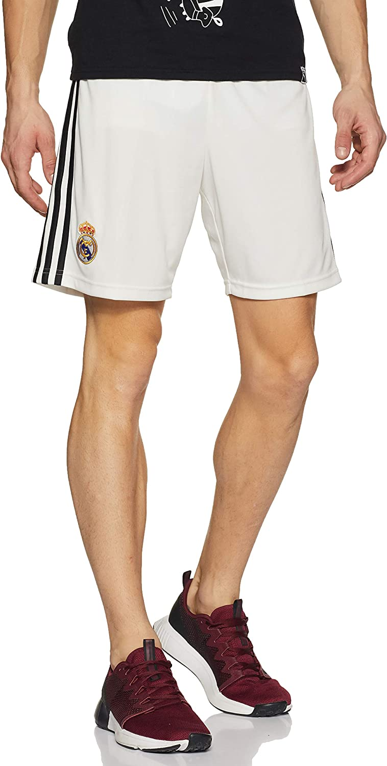 adidas 2018-2019 Real Madrid Home Shorts (White)