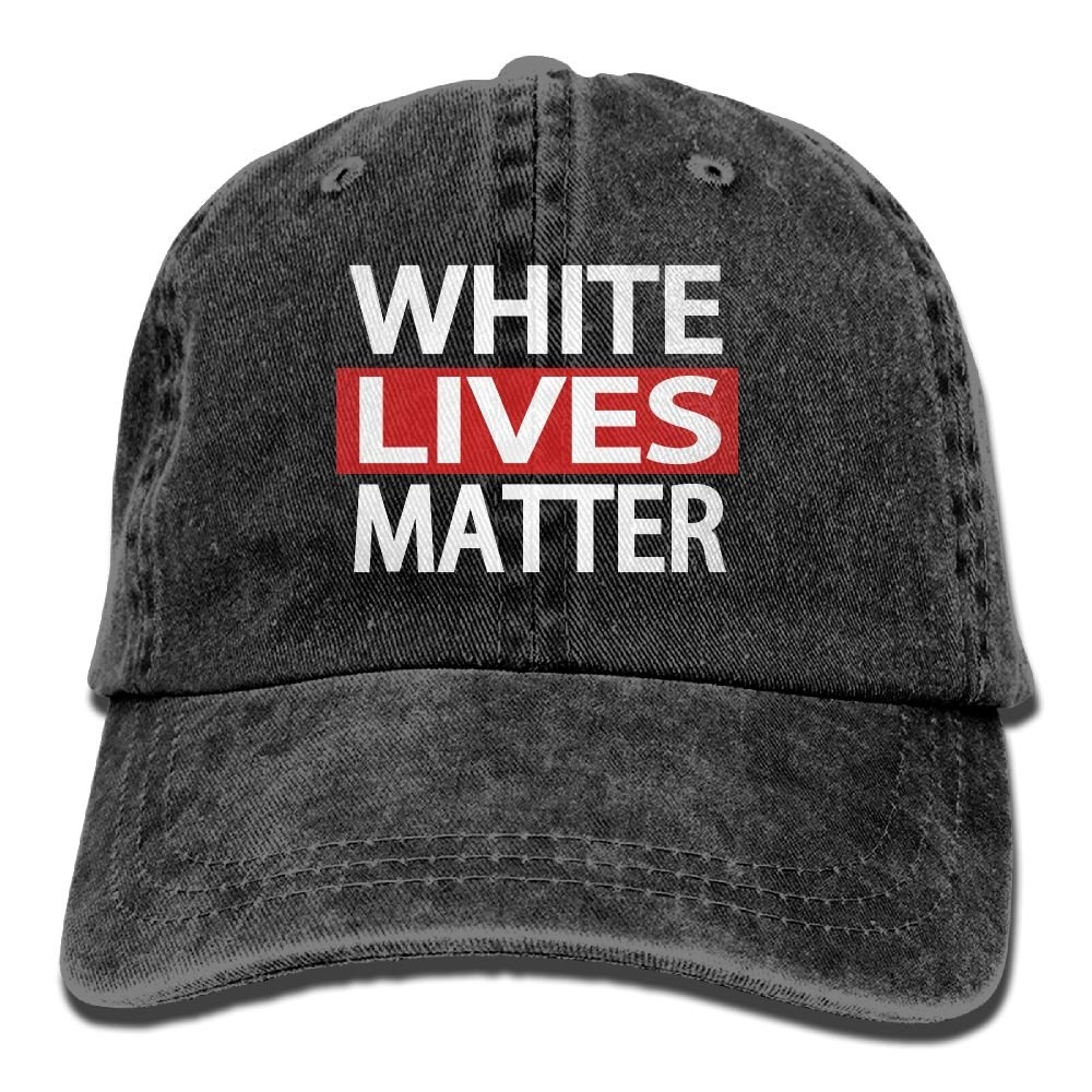 Trableade White Lives Matter Adult Sport Adjustable Structured Baseball Cowboy Hat