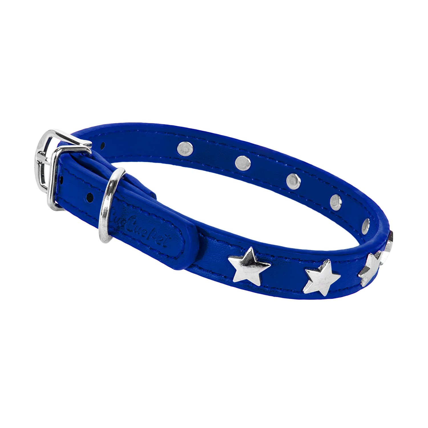 Cue Cue Pet Adjustable Dog Collar Many Sizes (Extra Large, bluee) by CUE CUE Pet
