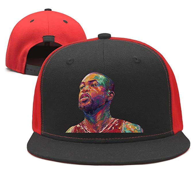 ea0681dc437b0 Mens Womens dwade Painting Flash  3 Player Custom Adjustable dad hat at Amazon  Men s Clothing store