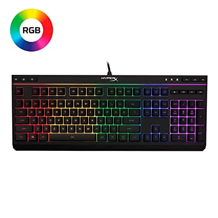 fd6f6348845 HyperX Alloy Core RGB - Membrane Gaming Keyboard - Comfortable Quiet Silent  Keys with RGB LED
