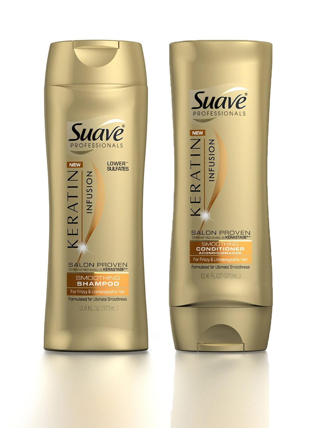 Suave Professionals Keratin Infusion Smoothing Shampoo & Conditioner, 12.6 Ounce