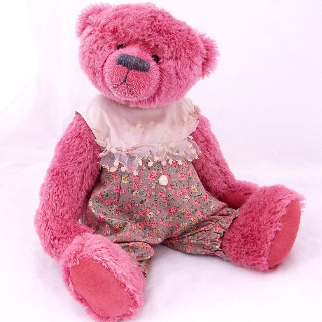 Teddy Bear Pink Steiff Schulte Mohair Artist Collectable OOAK 15 inches Cherry Blossom