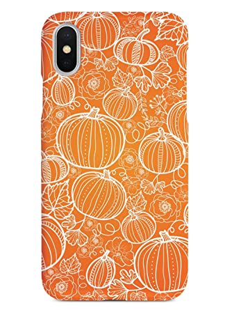 Inspired Cases 3d Textured Iphone X Xs Case Rubber Bumper Cover Protective Phone Case For Apple Iphone X Xs Pumpkin Patch