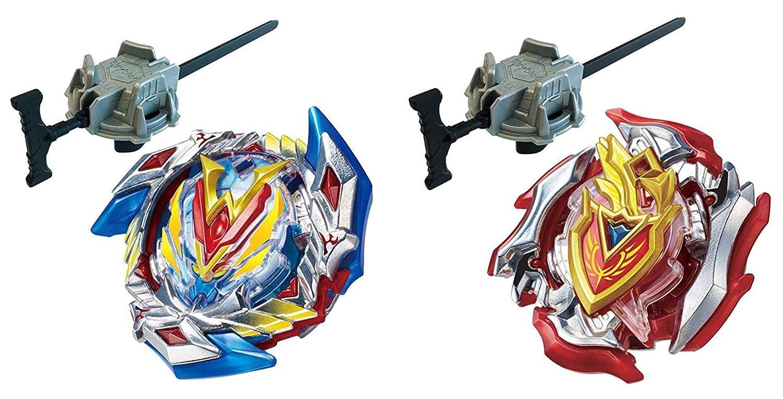 Pootercay Beyblade Burst Evolution Gyro Toy Set Top Blade Burst God B-104 / B-105 Series (2 Pack)