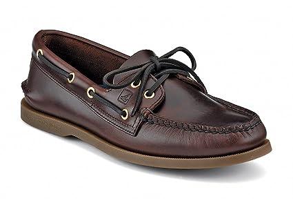 Sperry Top Sider da uomo in pelle barca scarpe Amaretto 8f3d67663ff