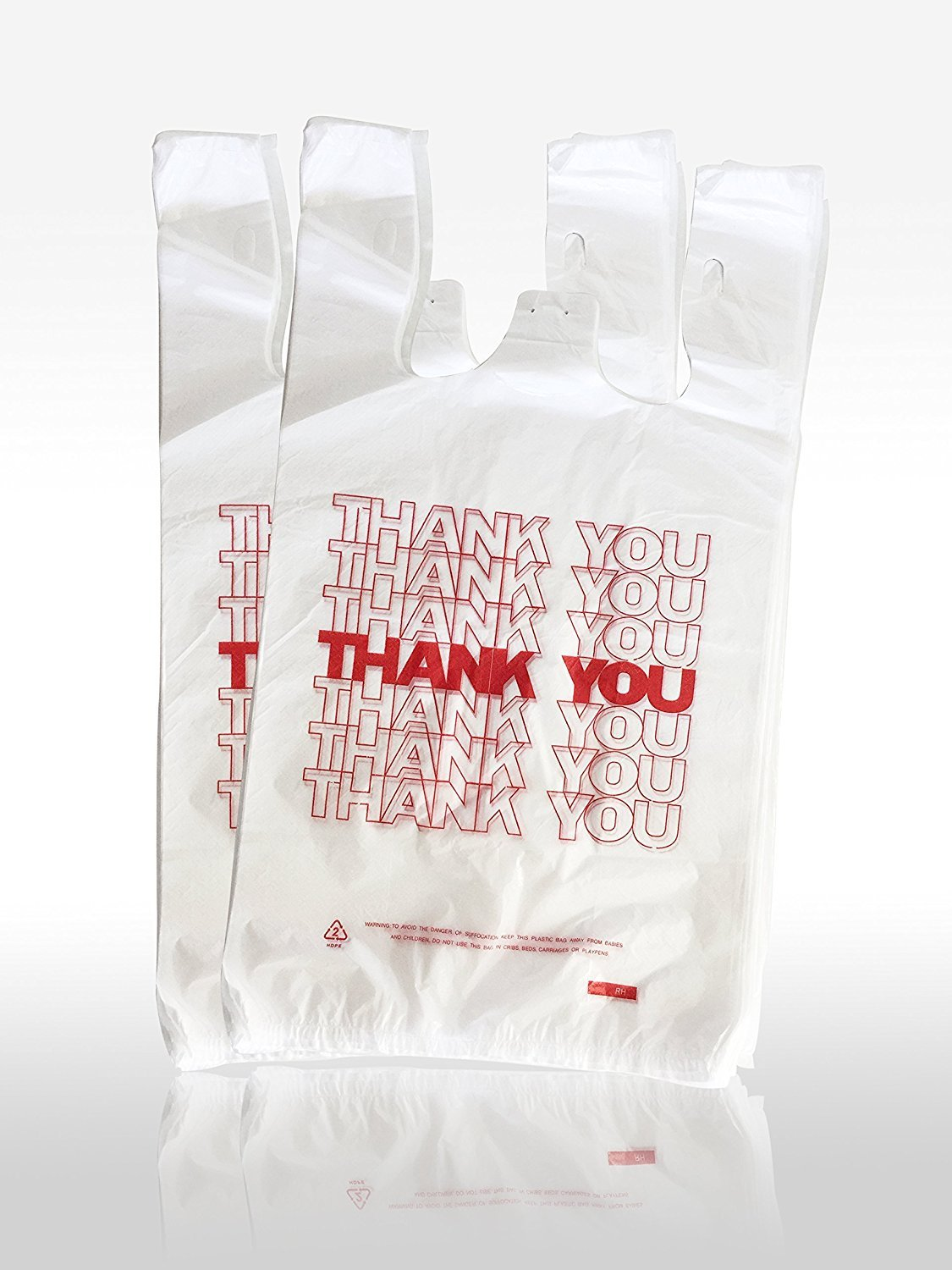 Black t shirt carryout bags 1000 ct - Amazon Com T Shirt Carryout Bags Thank You Bags Reusable Grocery Plastic Bags 300 Count Kitchen Dining