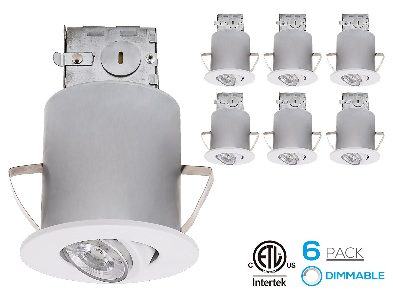 Recessed lighting kit 3 inch etl listed air tight ic housing recessed lighting kit 3 inch etl listed air tight ic housing white swivel trim led dimmable gu10 light bulb daylight rotatable spotlight fixture aloadofball