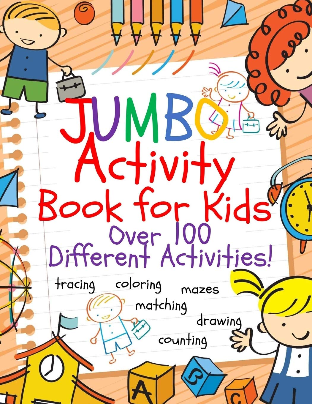 - Amazon.com: Jumbo Activity Book For Kids: Jumbo Coloring Book And