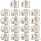 18 Pieces Hot Roller Clips Plastic Hair Curler Claw Clips Replacement Roller Clips for Small, Medium, Large and Jumbo Hair Ro