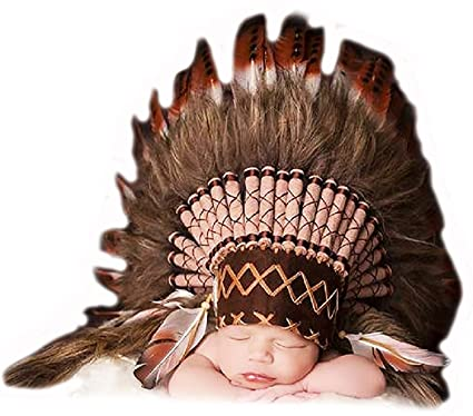 Amazon.com: from 0 to 9 Months Baby/Newborn : Brown Headdress for ...