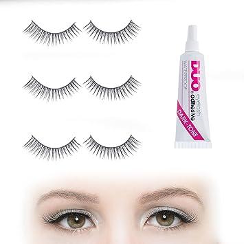 837f6dcfa10 Subtle Natural-looking False Eyelashes Set with Duo Dark Glue   6 X Strip  Falsies