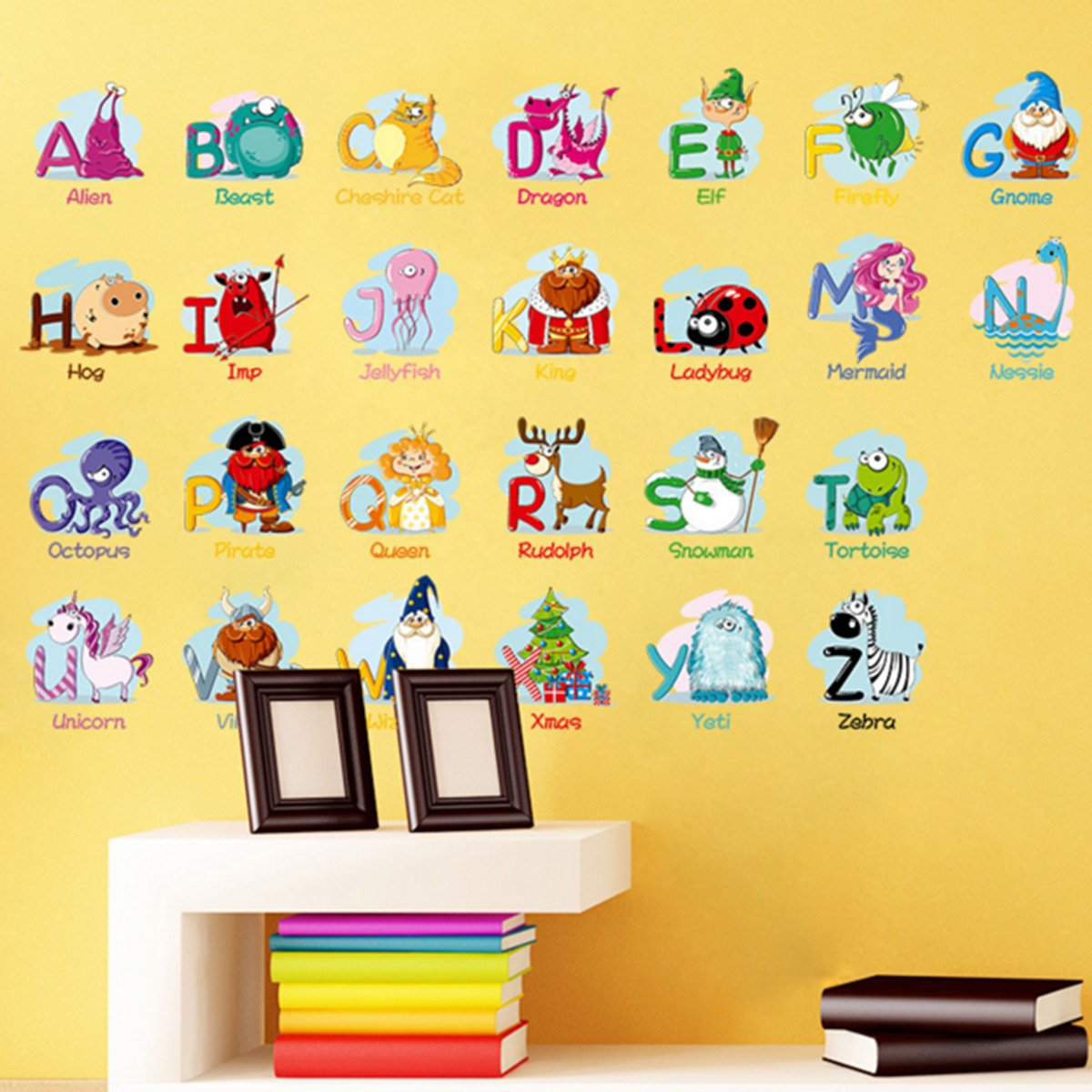 Amazon.com: Animal Alphabet Wall Decals, Baby and Toddler Wall Decor ...