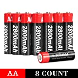 AA Batteries Rechargeable 1.2V Ni-MH 2800mAh High