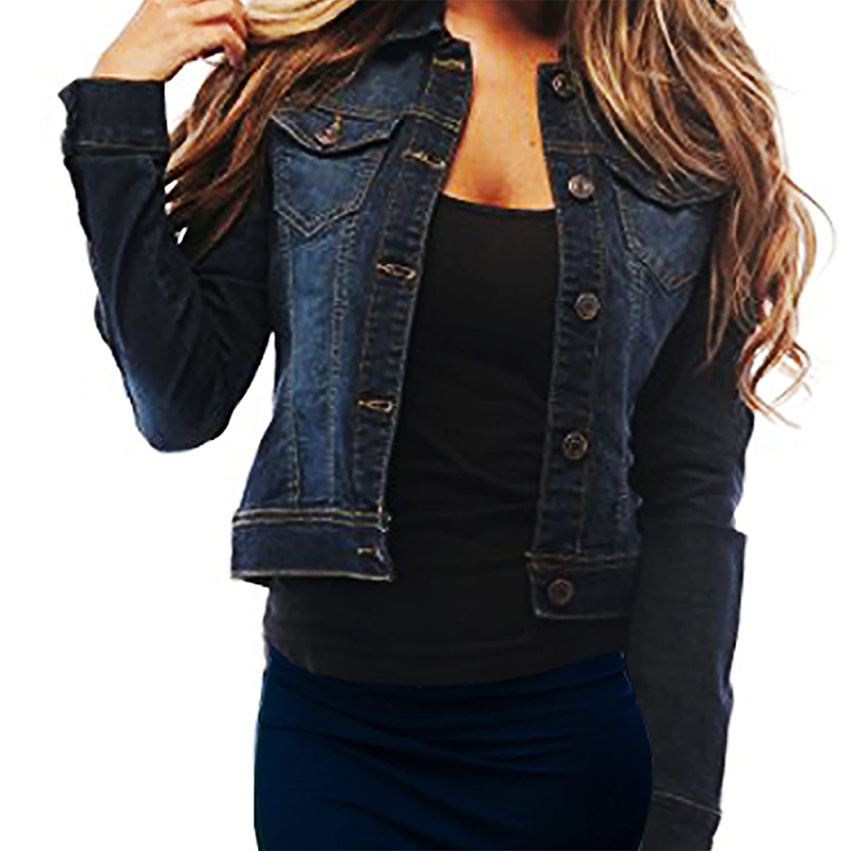 SKYLINEWEARS Womens Full Sleeve Coat Casual Jean Soft Denim Jacket