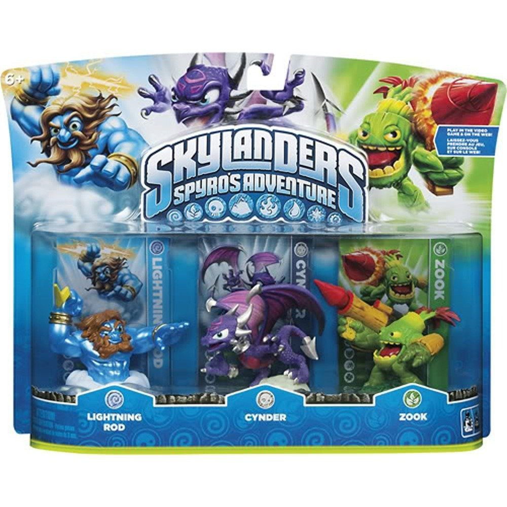 Skylanders Spyro's Adventure Triple Character Pack (Cynder, Lightning Rod, Zook) by Activision (Image #1)