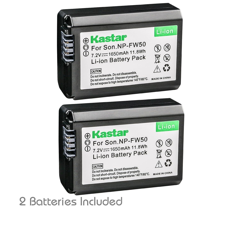 Amazon.com: Kastar Cargador, Batería NP-FW50 para para NP ...