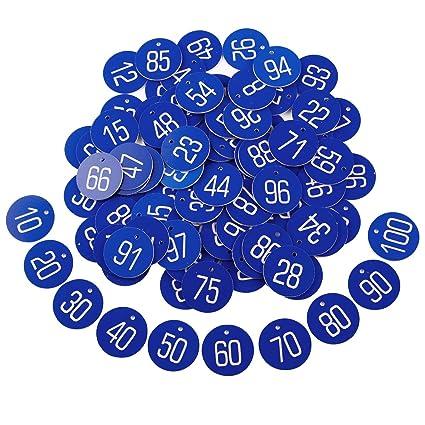 Anladia 1-50 numeriert Kennzeichnungsmarken Textmarken Zahlenmarken Schl/üsselmarken Gelb