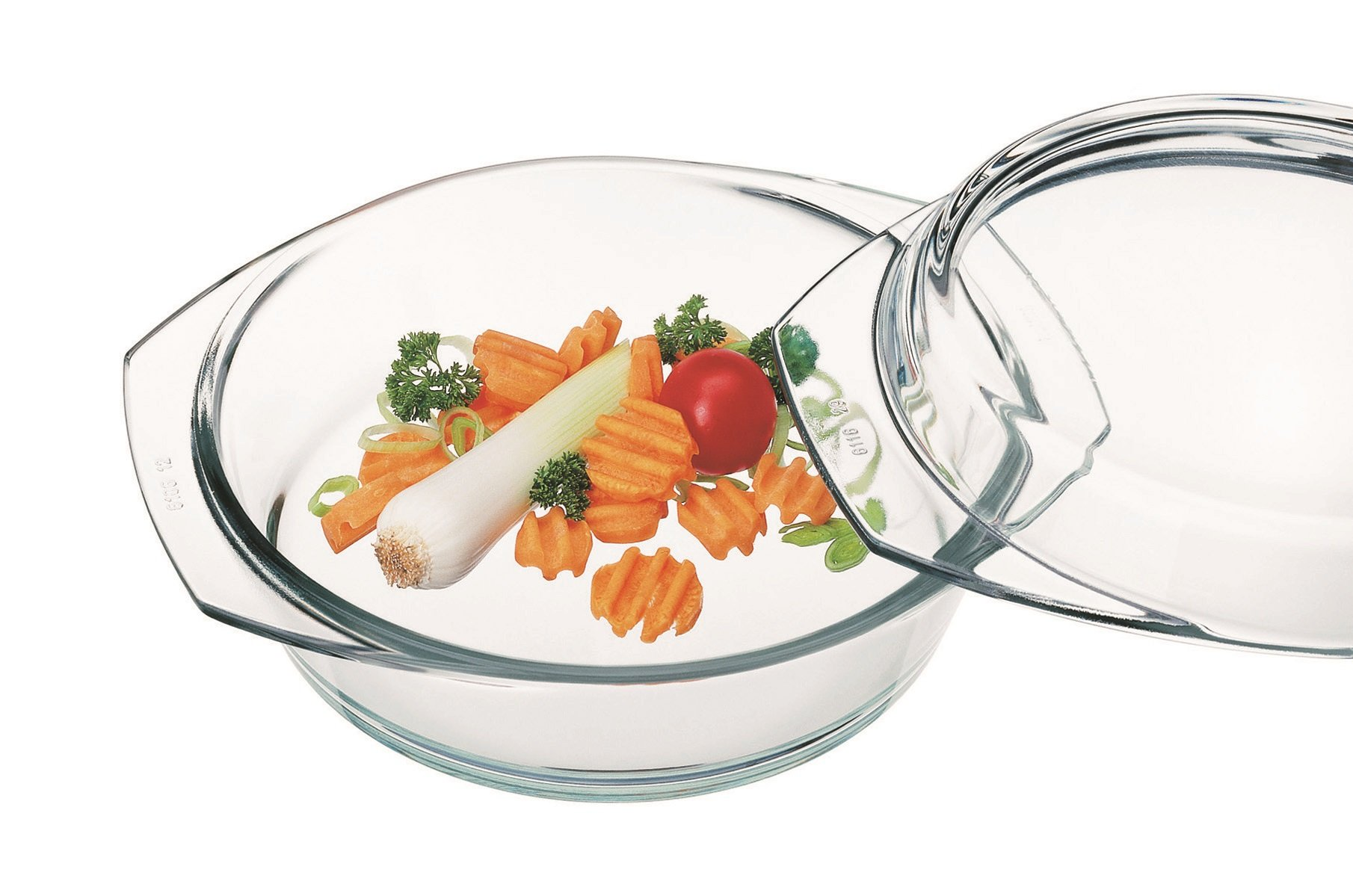 Simax Glassware 6256/6266 Round Casserole Pan with Lid, 1-Quart