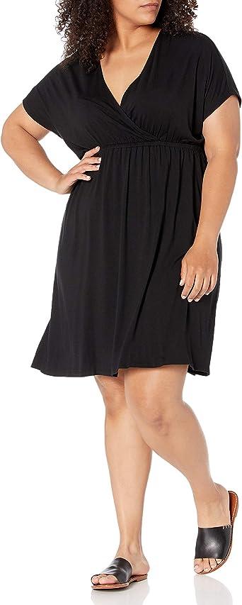 Essentials Womens Surplice Dress