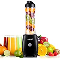 Aicok 300W Single Serve Smoothie Blender with Detachable Blade