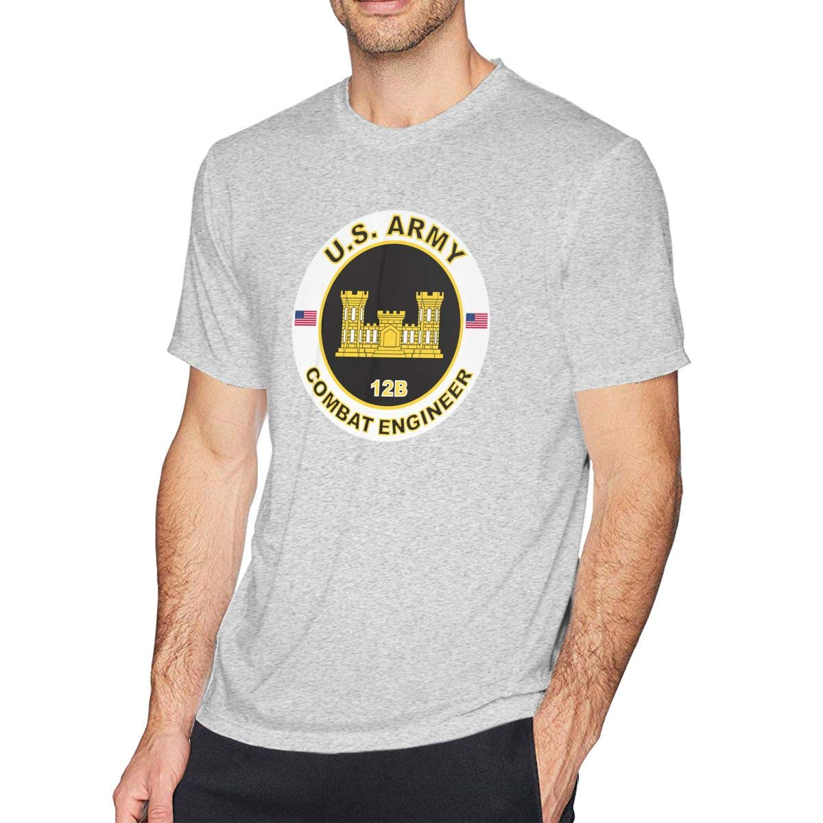 Us Army Mos 12b Combat Logo S Crew Neck Short Sleeve Tshirt Casual Shirt For