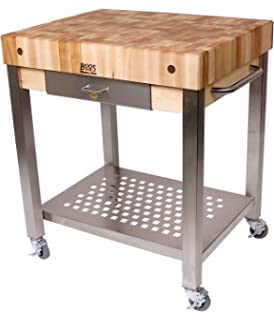 cucina americana technica kitchen cart with butcher block top counter top height quot: leaf kitchen cart