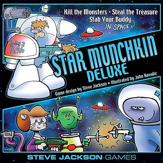 Steve Jackson Games Munchkin – Munchkin Deluxe – Juego de Cartas: Amazon.es: Juguetes y juegos