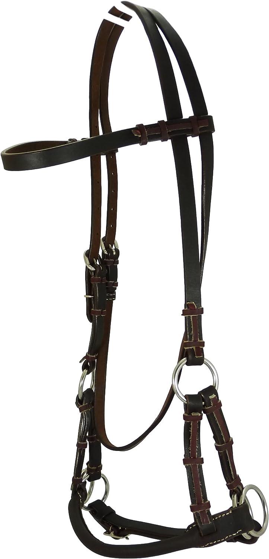 Thor Equine Sidepull - Correa de nariz redonda, color marrón oscuro