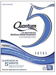 Zotos QUANTUM 5 FIRM CHOICES Advanced Alkaline Perm for Normal to Resistant Hair (with Sleek Steel Pin Tail Comb) Moisture-Shield Treatment (FIRM CHOICES)