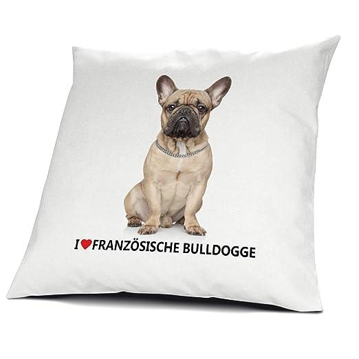 Bulldog Francés almohada, cojín con relleno