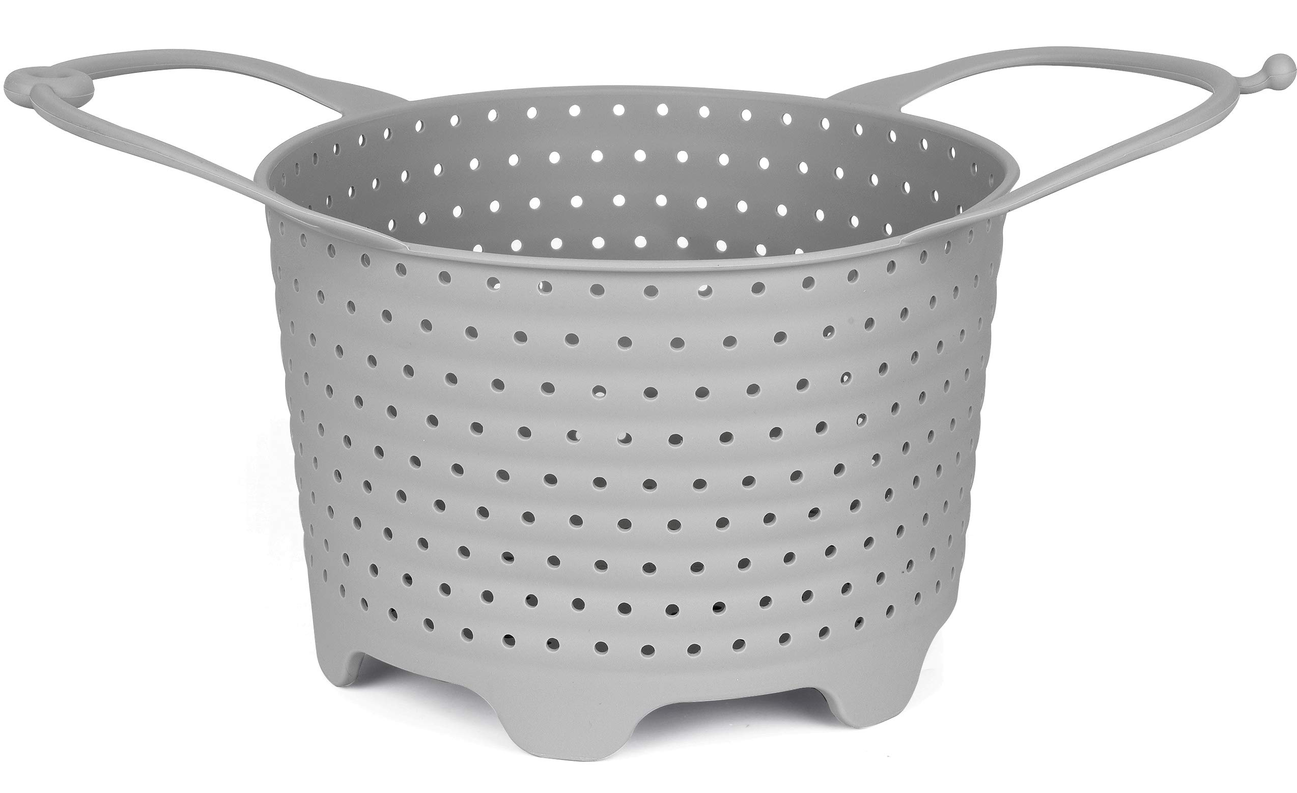 Instant Pot Silicone Steamer Basket I Non-Scratch IP Insert Fits in InstaPot Pressure Cookers and Cooking Pots I Vegetable Steamer or Egg Basket IP Accessory for Instant Pot 6 Quart by QuickerNest