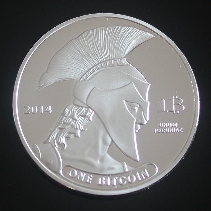 Set de 2 oro y plata Plated 1oz Titan Bitcoin redondo coleccionistas moneda conmemorativa medalla: Amazon.es: Hogar
