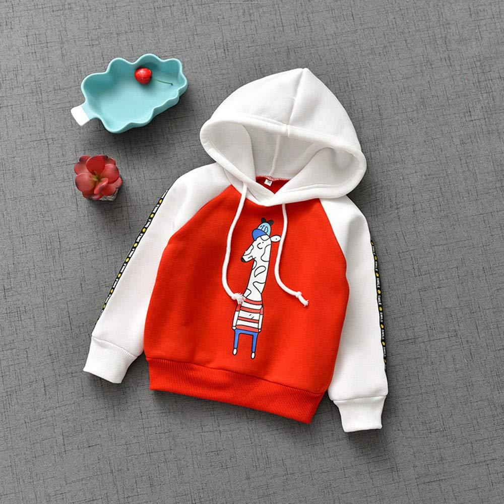 Longra/® Kids Girl Boy Hooded Coat,Winter Animal Print Sweatshirt Hoodie Pullover Tops Clothes for 1-7 Years