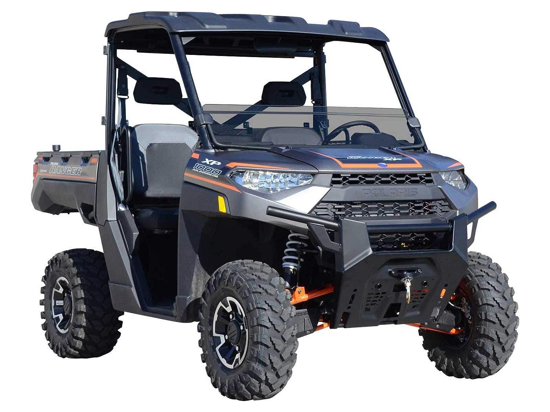 Polaris Ranger Diesel >> Superatv Heavy Duty Dark Tint Half Windshield For Polaris Ranger Full Size Xp 1000 Crew Diesel 2015 Installs In 5 Minutes