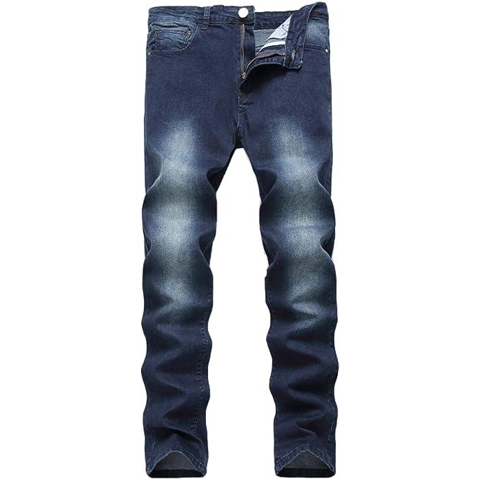 Amazon.com: Leward - Pantalones vaqueros ajustados para ...