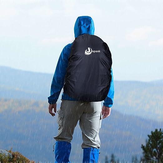 Jepeak Waterproof Backpack Rain Cover 40L-50L Daypack Dustproof Rainproof  Protector Cover  (Elastic 4349c16edc