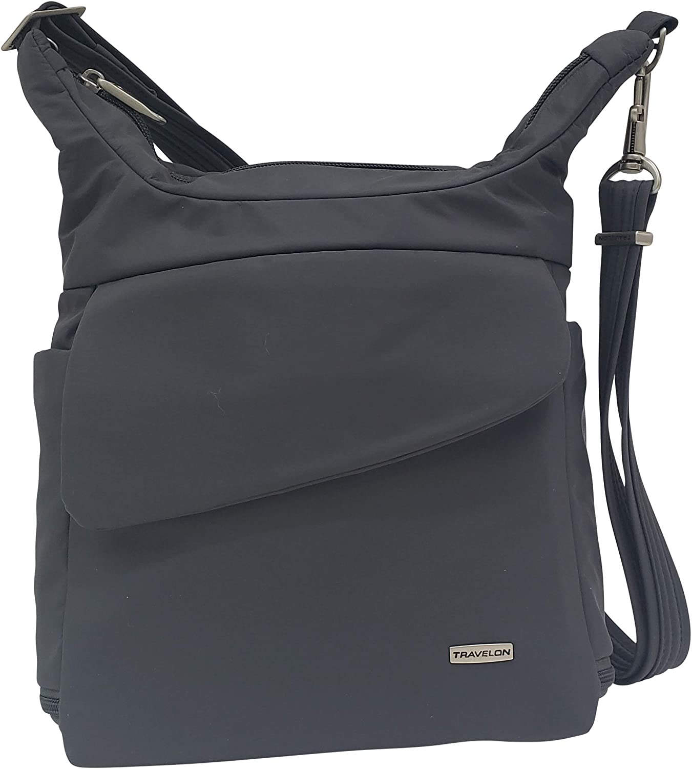 Travelon Anti-Theft Messenger Bag (Graphite)
